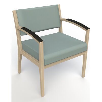 Itasca Wall Guard Back Leg Guest Chair Arm Options: Padded, Finish: Natural, Seat Color: Avant Calm