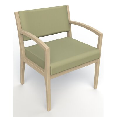 Itasca Wall Guard Back Leg Guest Chair Seat Color: Avant Sage, Finish: Natural, Arm Options: Straight
