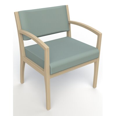 Itasca Wall Guard Back Leg Guest Chair Seat Color: Avant Calm, Finish: Natural, Arm Options: Straight