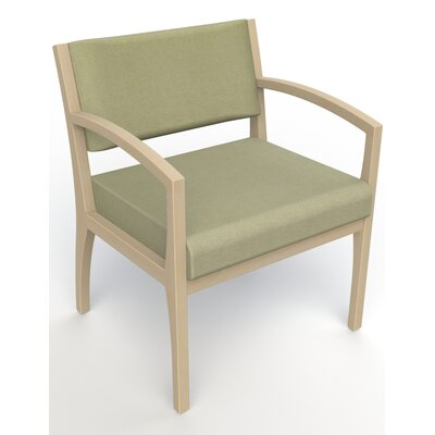 Itasca Wall Guard Back Leg Guest Chair Seat Color: Script Palm, Finish: Natural, Arm Options: Straight