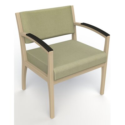 Itasca Wall Guard Back Leg Guest Chair Seat Color: Script Palm, Finish: Natural, Arm Options: Padded