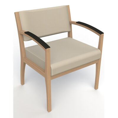 Itasca Wall Guard Back Leg Guest Chair Arm Options: Padded, Seat Color: Avant Bone, Finish: Fawn