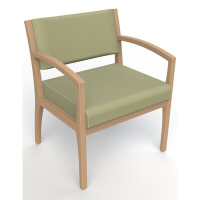 Itasca Wall Guard Back Leg Guest Chair Seat Color: Avant Sage, Finish: Fawn, Arm Options: Straight
