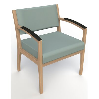 Itasca Wall Guard Back Leg Guest Chair Arm Options: Padded, Seat Color: Avant Calm, Finish: Fawn