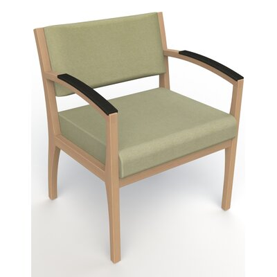 Itasca Wall Guard Back Leg Guest Chair Arm Options: Padded, Seat Color: Script Palm, Finish: Fawn