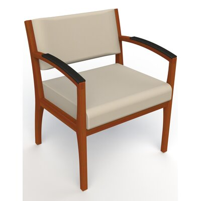 Itasca Wall Guard Back Leg Guest Chair Finish: Light Cherry, Arm Options: Padded, Seat Color: Avant Bone
