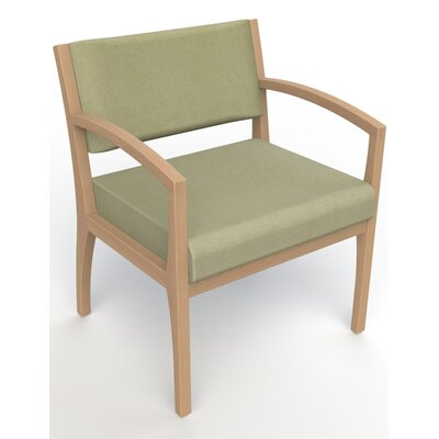 Itasca Wall Guard Back Leg Guest Chair Seat Color: Script Palm, Finish: Fawn, Arm Options: Straight