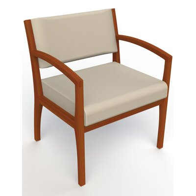Itasca Wall Guard Back Leg Guest Chair Seat Color: Avant Bone, Finish: Light Cherry, Arm Options: Straight