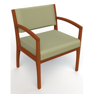 Itasca Wall Guard Back Leg Guest Chair Seat Color: Avant Sage, Finish: Light Cherry, Arm Options: Straight
