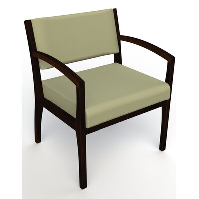 Itasca Wall Guard Back Leg Guest Chair Seat Color: Avant Sage, Finish: Espresso, Arm Options: Straight