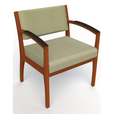 Itasca Wall Guard Back Leg Guest Chair Seat Color: Script Palm, Finish: Light Cherry, Arm Options: Padded