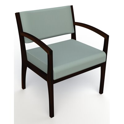 Itasca Wall Guard Back Leg Guest Chair Seat Color: Avant Calm, Finish: Espresso, Arm Options: Straight