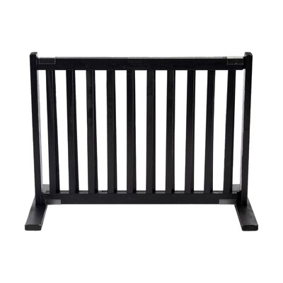 Amish Handcrafted Kensington Freestanding Pet Gate Finish: Black, Size: Small