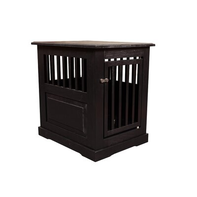 Flower Amish Pet Crate Finish: Black, Size: Medium (27 H x 21 W x 27 D)