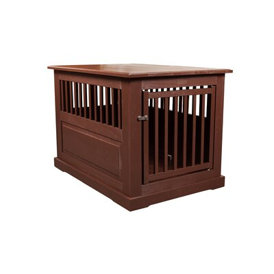 Flower Amish Pet Crate Finish: Mahogany, Size: Large (27