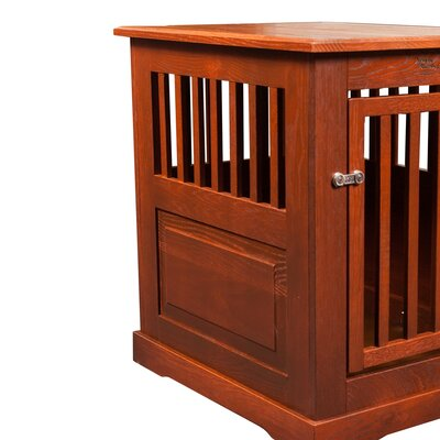 Flower Pet Crate Finish: Mahogany, Size: Medium (27 H x 21 W x 27 D)