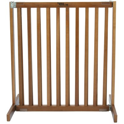 Amish Handcrafted Tall Matthews 1 Panel Free Standing Gate Finish: Artisan Bronze, Size: Small
