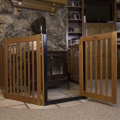 Amish Handcrafted 32 Walk-Through 5 Panel Free Standing Gate Finish: Artisan Bronze