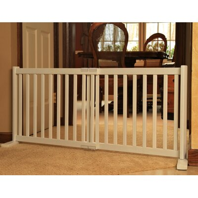 Amish Handcrafted Kensington Freestanding Pet Gate Finish: Warm White, Size: Small