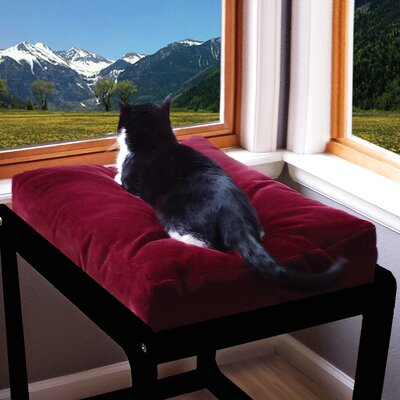 Amish Handcrafted Window Pillow Size: 43 W x 47 D x 23 H, Color: Berry/Black