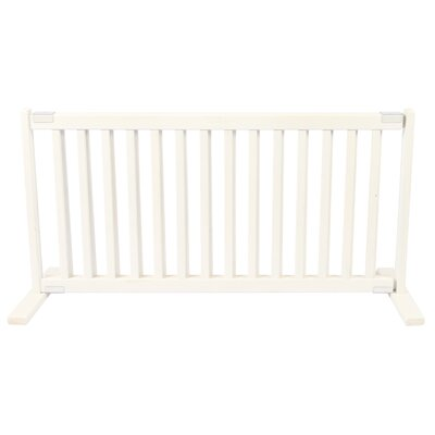 Amish Handcrafted Bonnie Freestanding Pet Gate Finish: Warm White, Size: Large