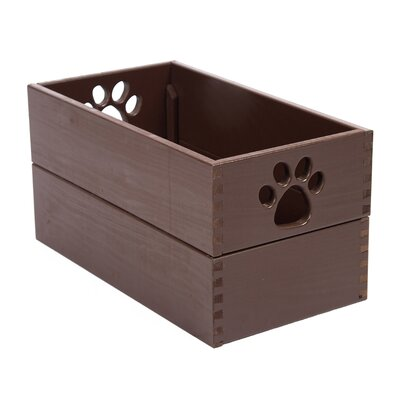 Dynamic Accents Pet Toy Box in Mahogany - Size: Small at Sears.com