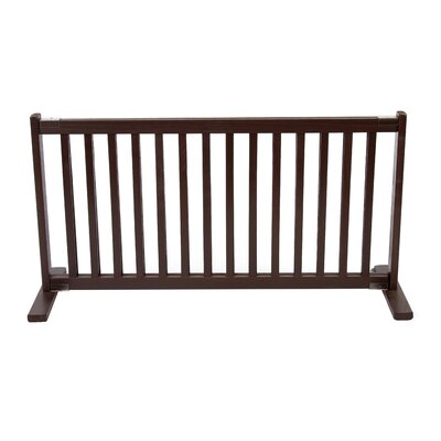 Amish Handcrafted Kensington Freestanding Pet Gate Finish: Mahogany, Size: Large