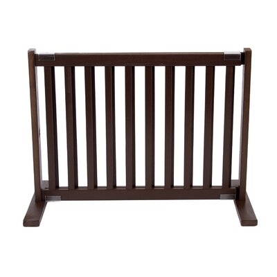 Amish Handcrafted Kensington Freestanding Pet Gate Size: Small, Finish: Mahogany