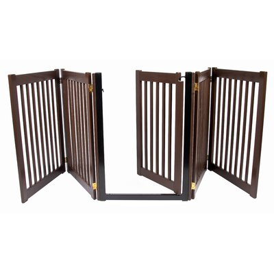Brayden Amish Handcrafted 32 Walk-Through 5 Panel Free Standing Gate Finish: Mahogany