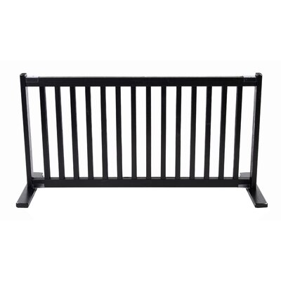 Amish Handcrafted Kensington Freestanding Pet Gate Size: Large, Finish: Black