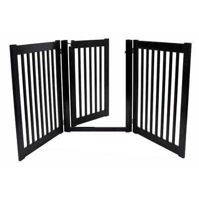 Amish Handcrafted 32 3 Panel Walk-Through Free Standing Gate Finish: Black