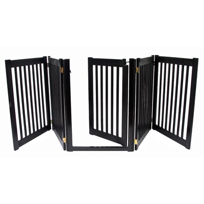 Amish Handcrafted 32 Walk-Through 5 Panel Free Standing Gate Finish: Black