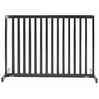 Amish Handcrafted Tall Kensington 1 Panel Free Standing Gate Finish: Black, Size: Large