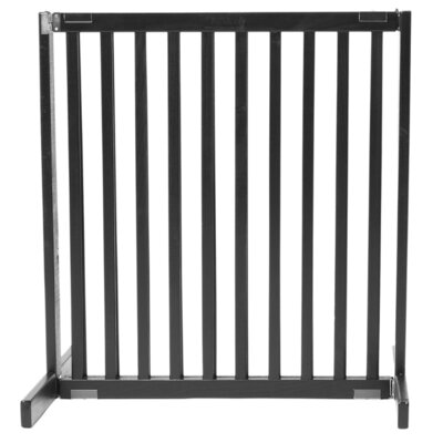 Amish Handcrafted Tall Matthews 1 Panel Free Standing Gate Finish: Black, Size: Small