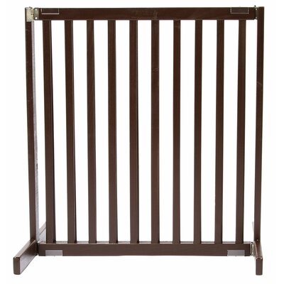 Amish Handcrafted Tall Kensington 1 Panel Free Standing Gate Finish: Mahogany, Size: Small