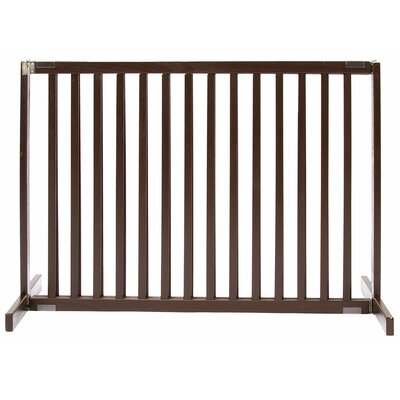 Amish Handcrafted Tall Kensington 1 Panel Free Standing Gate Finish: Mahogany, Size: Large