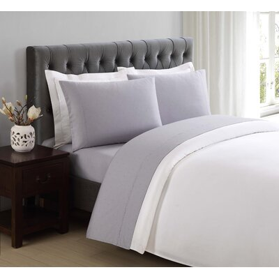 Classic Cotton Pillow Case Size: King, Color: Rain Drops