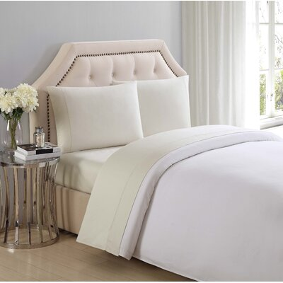 Solid Cotton Sheet Set Size: Twin, Color: Almond Milk