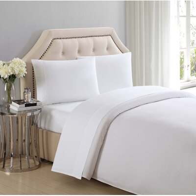 4 Piece 310 Thread Count Cotton Sheet Set Size: Queen, Color: Bright White