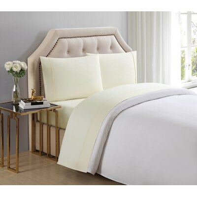 4 Piece 510 Thread Count Cotton Sheet Set Size: King, Color: Sweet Corn