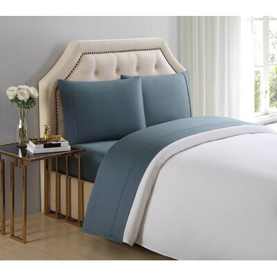4 Piece 510 Thread Count Cotton Sheet Set Color: Trooper, Size: King