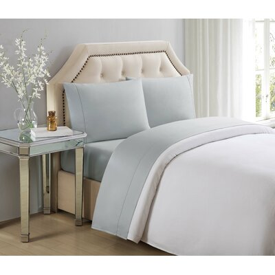 4 Piece 610 Thread Count Cotton Sheet Set Size: King, Color: Gray Violet