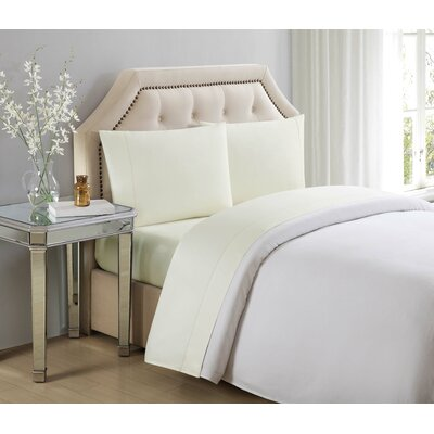4 Piece 610 Thread Count Cotton Sheet Set Size: Queen, Color: Sweet Corn