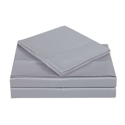 4 Piece 310 Thread Count Cotton Sheet Set Size: California King, Color: Rain Drops
