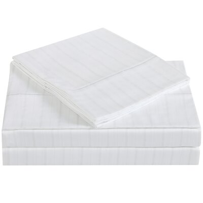 Classic 310 Thread Count Cotton Sheet Set Size: Full, Color: Bright White