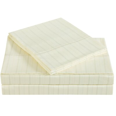 Classic 310 Thread Count Cotton Sheet Set Size: Full, Color: Sweet Corn