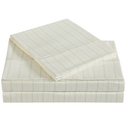 Classic 310 Thread Count Cotton Sheet Set Size: Twin, Color: Almond Milk