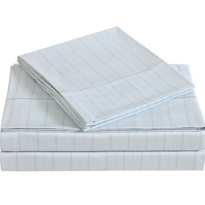 Classic 310 Thread Count Cotton Sheet Set Color: Dawn Blue, Size: King