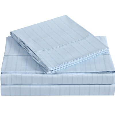 Classic 310 Thread Count Cotton Sheet Set Size: Full, Color: Skyway