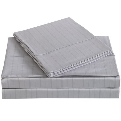 Classic 310 Thread Count Cotton Sheet Set Size: Queen, Color: Rain Drops